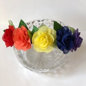 🌈Handmade Rainbow Flower Headband-OS